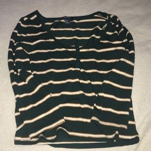 Green, orange, and white striped Forever 21 M
